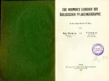 Eug. Warming's Lehrbuch der ökologischen Pflanzengeographie. - 3., umgearb. Aufl.