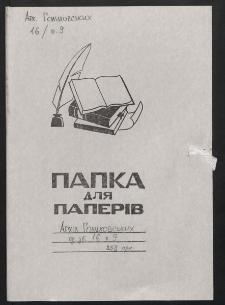 Listy Agenora Gołuchowskiego do rodziny. Teka 3