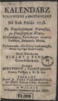 Kalendarz Polityczny y Historyczny Ná Rok Páński 1738 […]