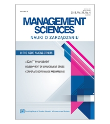 Spis treści [Management Sciences = Nauki o Zarządzaniu, 2019, vol. 24, no. 4]