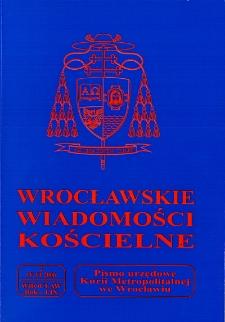 Wrocławskie Wiadomości Kościelne. R. 59 (2006), nr 2
