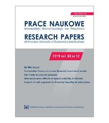 Spis treści [Prace Naukowe Uniwersytetu Ekonomicznego we Wrocławiu = Research Papers of Wrocław University of Economics; 2019; vol. 63, nr 12]