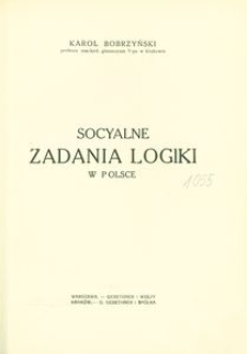 Socyalne zadania logiki w Polsce