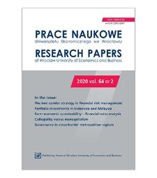 Spis treści [Prace Naukowe Uniwersytetu Ekonomicznego we Wrocławiu = Research Papers of Wrocław University of Economics; 2020; vol. 64, nr 2]