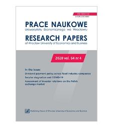 Spis treści [Prace Naukowe Uniwersytetu Ekonomicznego we Wrocławiu = Research Papers of Wrocław University of Economics; 2020; vol. 64, nr 4]