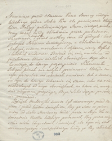 Autograf mowy biskupa przemyskiego Gołaszewskiego na ślubie moim [Henryka Lubomirskiego] z Teresą księżniczką Czartoryską, stolnikówną, w Łańcucie 1807 roku 24 Maja
