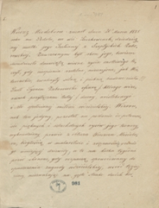 [Listy Tymona Zaborowskiego z lat 1820-1828 i materiały jego dotyczące]