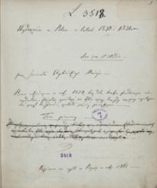 Wydarzenia w Polsce w latach 1830 i 1831. Tom pierwszy