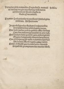 Parvulus phi[losophia]e naturalis cu[m] expositio[n]e textuali [...]