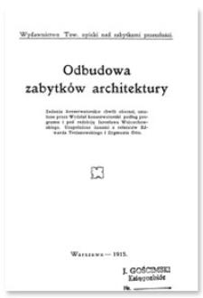 Odbudowa zabytków architektury