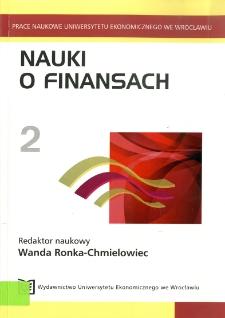 Usługi finansowe - ujęcie procesowe. Prace Naukowe Uniwersytetu Ekonomicznego we Wrocławiu, 2009, Nr 75, s. 65-75