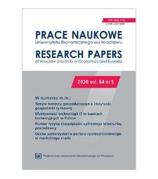 Spis treści [Prace Naukowe Uniwersytetu Ekonomicznego we Wrocławiu = Research Papers of Wrocław University of Economics; 2020; vol. 64, nr 5]