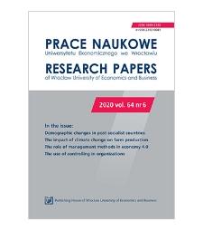 Spis treści [Prace Naukowe Uniwersytetu Ekonomicznego we Wrocławiu = Research Papers of Wrocław University of Economics; 2020; vol. 64, nr 6]
