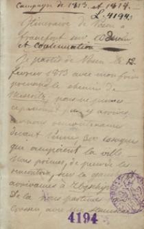 Campagne de 1813 et 1814