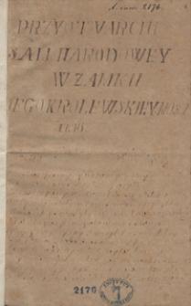 Przy otwarciu Sali Narodowej w Zamku Jego Królewskiej Mości [w Warszawie] 1786