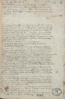 Krótkie zebranie różnych rzeczy w Rzymie, które albo widziałem albo słyszałem albo się stały, dla ciekawości na dni rozłożone, zanotowane od dnia 5 XI 1746 od pułroka [!] prawie mieszkania w Rzymie [do lutego 1746]