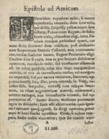 Epistola ad Amicum