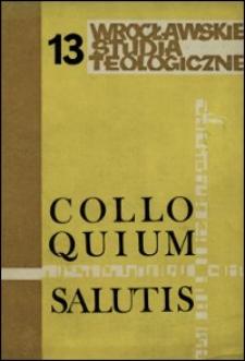 Colloquium Salutis : wrocławskie studia teologiczne. 13 (1981)