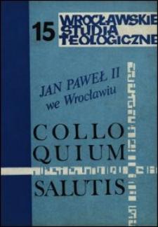 Colloquium Salutis : wrocławskie studia teologiczne. 15 (1983)