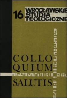 Colloquium Salutis : wrocławskie studia teologiczne. 16 (1984)