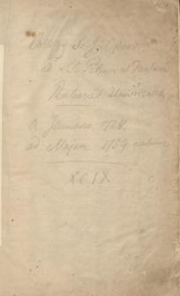Collegii S[ocietatis] I[esu] Cracoviensis ad ss. Petrum et Paulum rationes universales a Ianuario 1728 ad Maium exclusive 1729