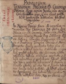 [Przywileje Prus Królewskich oraz rozprawa Filipa Lackiego] Contra informationem iurium terrarum Prussiae contrainformatio