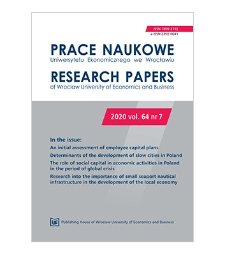 Spis treści [Prace Naukowe Uniwersytetu Ekonomicznego we Wrocławiu = Research Papers of Wrocław University of Economics; 2020; vol. 64, nr 7]
