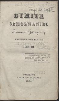 Dymitr Samozwaniec : romans historyczny. Tom III
