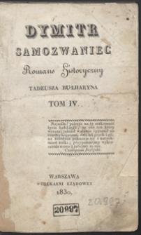 Dymitr Samozwaniec : romans historyczny. Tom IV
