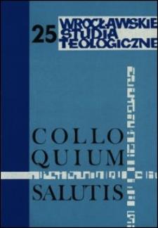 Colloquium Salutis : wrocławskie studia teologiczne. 25 (1993)