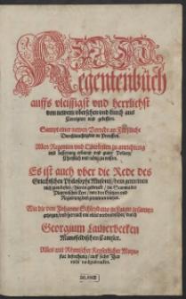 Regentenbuch [...]