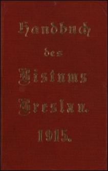 Handbuch des Bistums Breslau und seines Delegatur-Bezirks für das Jahr 1915
