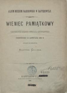 Wieniec pamiątkowy półwiekowéj rocznicy powstania listopadowego obchodzonéj 29 listopada 1880 r.