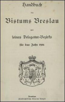 Handbuch des Bistums Breslau und seines Delegatur-Bezirks für das Jahr 1916