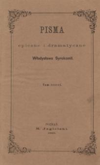Pisma epiczne i dramatyczne Władysława Syrokomli. Tom trzeci