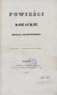 Powieści kozackie Michała Czaykowskiego