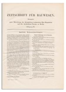 Zeitschrift für Bauwesen, Jr. IX, 1859, H. [1]