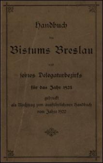 Handbuch des Bistums Breslau und seines Delegaturbezirks für das Jahr 1923