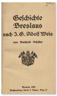 Geschichte Breslaus : nach J. G. Adolf Weis