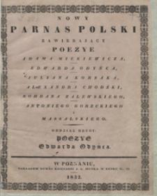 Poezye Antoniego Edwarda Odyńca