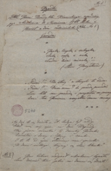 Wypadki JMP Benedykta Winnickiego w podróży jego z Krakowa do Nieświerza 1766 roku i powrót w dom rodzicielski. Gawęda oraz Obrazy z życia
