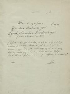 Ułamki rękopisu Józ[efa] Max[ymiliana] Ossolińskiego [pt.] Żywot Stanisława Orzechowskiego [...]