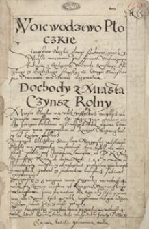 Lustracya woiewództwa rawskiego z płockim. R. 1564