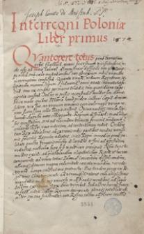 [Acta Interregni post obitum nimi rum Sigismundi Augusti 1572-1576]