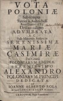 Vota Poloniae Sub tempus Turcici in Austria belli Anno Domini 1683 […] Adumbrata
