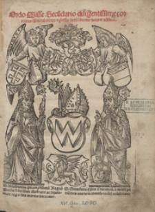 Ordo Misse Secu[n]dario diligentissime correctus cu[m] notabilibus [e]t glossis sacri canonis noviter additis. - War. B