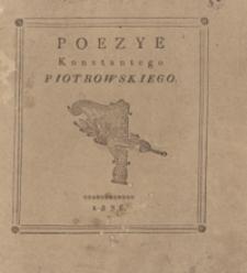 Poezye Konstantego Piotrowskiego