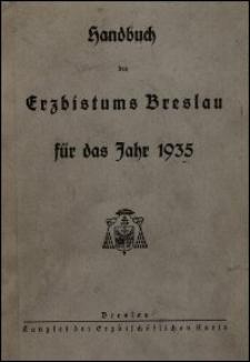 Handbuch des Erzbistums Breslau für das Jahr 1935