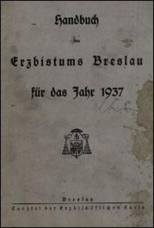 Handbuch des Erzbistums Breslau für das Jahr 1937