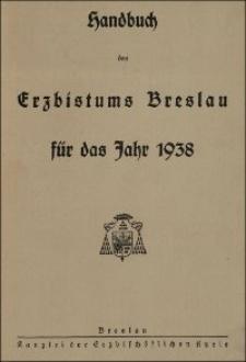 Handbuch des Erzbistums Breslau für das Jahr 1938